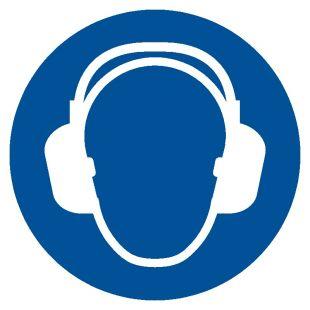 Nakaz stosowania ochrony słuchu - znak bhp nakazujący - GJM003
