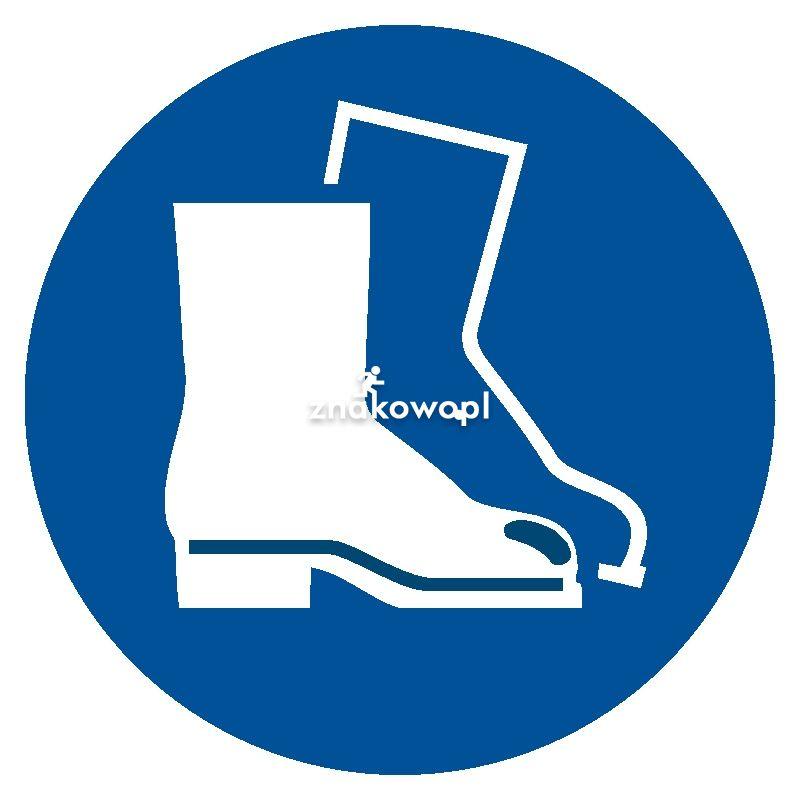 Nakaz stosowania ochrony stóp - Plac budowy – znaki i tablice