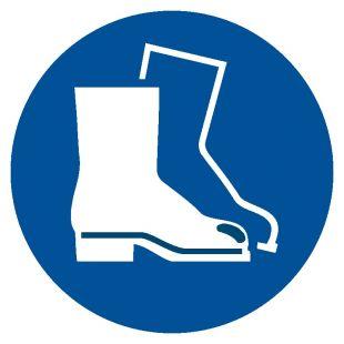 Nakaz stosowania ochrony stóp - znak bhp nakazujący - GJM008