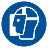 Nakaz stosowania ochrony twarzy - znak bhp nakazujący - GJM013 - Materiały wybuchowe – piktogramy CLP