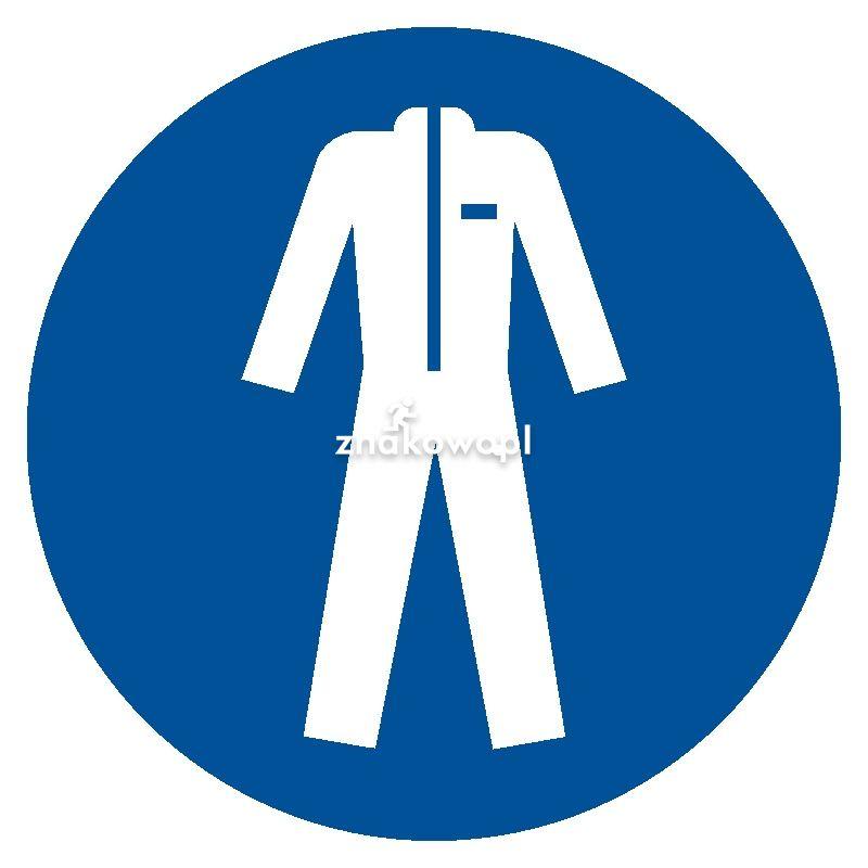 Nakaz stosowania odzieży ochronnej - Plac budowy – znaki i tablice