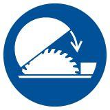 Nakaz stosowania osłony nastawnej - znak bhp nakazujący - GJM031 - Urządzenia ochronne przy maszynach