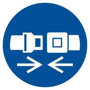 Nakaz stosowania pasów bezpieczeństwa - znak bhp nakazujący - GJM020
