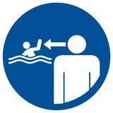 Nakaz ustawicznego nadzoru nad dziećmi - znak, kąpieliska - OH021 - Regulamin kąpieliska
