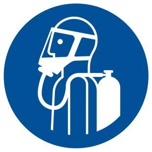 Nakaz używania aparatu oddechowego - znak bhp nakazujący - GJM047