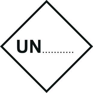 Naklejka ADR - Numer rozpoznawczy UN ... - MB129