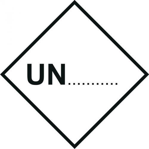 Naklejka ADR - Numer rozpoznawczy UN ... - MB129 - Materiały zagrażające środowisku – oznakowanie ADR