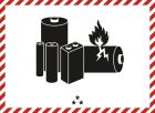 Naklejka ADR - Oznaczenie akumulatora dla ogniw lub akumulatorów litowo-jonowych albo z litem metalicznym - MA001a