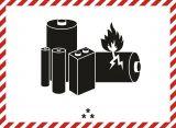 Naklejka ADR - Oznaczenie akumulatora dla ogniw lub akumulatorów litowo-jonowych albo z litem metalicznym - MA001a - Wypadek lub awaria przy transporcie ADR