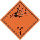Naklejka ADR podklasa nr 1.1, 1.2, 1.3 - Substancje, materiały i przedmioty wybuchowe. Klasa 1 - MB101