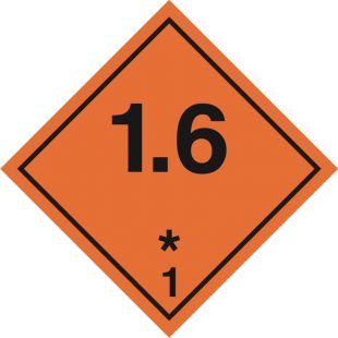 Naklejka ADR podklasa nr 1.6 - Substancje, materiały i przedmioty wybuchowe. Klasa 1 - MB104