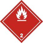Naklejka ADR podklasa nr 2.1 - Gazy palne. Klasa 2 - MB106