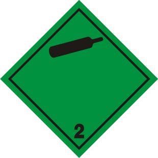 Naklejka ADR podklasa nr 2.2 - Gazy niepalne, nietrujące. Klasa 2 - MB107