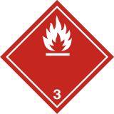 Naklejka ADR podklasa nr 3 - Materiały ciekłe zapalne. Klasa 3 - MB111 - ADR-RID – piktogramy