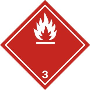 Naklejka ADR podklasa nr 3 - Materiały ciekłe zapalne. Klasa 3 - MB111