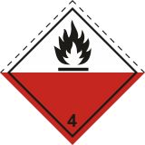 Naklejka ADR podklasa nr 4.2 - Materiały samozapalne. Klasa 4 - MB113 - ADR-RID – piktogramy