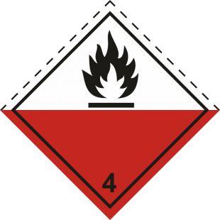 Naklejka ADR podklasa nr 4.2 - Materiały samozapalne. Klasa 4 - MB113
