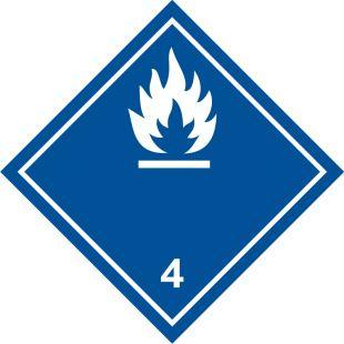 Naklejka ADR podklasa nr 4.3 - Materiały wytwarzające w zetknięciu z wodą gazy palne. Klasa 4 - MB115