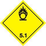 Naklejka ADR podklasa nr 5.1 - Materiały utleniające. Klasa 5 - MB116 - ADR-RID – piktogramy