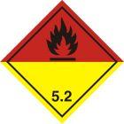 Naklejka ADR podklasa nr 5.2 - Nadtlenki organiczne. Klasa 5 - MB117