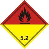 Naklejka ADR podklasa nr 5.2 - Nadtlenki organiczne. Klasa 5 - MB117 - ADR-RID – piktogramy