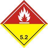 Naklejka ADR podklasa nr 5.2 - Nadtlenki organiczne. Klasa 5 - MB132 - Nalepki ostrzegawcze ADR – wzory
