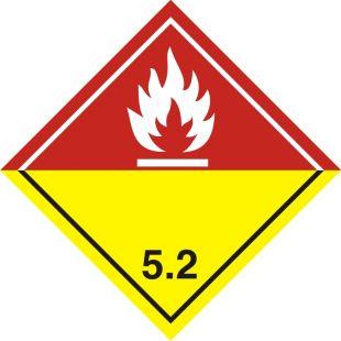 Naklejka ADR podklasa nr 5.2 - Nadtlenki organiczne. Klasa 5 - MB132