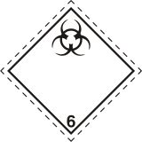 Naklejka ADR podklasa nr 6.2 - Materiały zakaźne. Klasa 6 - MB119 - ADR-RID – piktogramy