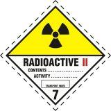 Naklejka ADR podklasa nr 7, kategoria II - Materiały promieniotwórcze. Klasa 7 - MB122 - Materiały promieniotwórcze – oznakowanie transportu ADR