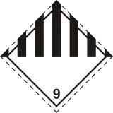 Naklejka ADR podklasa nr 9 - Różne materiały i przedmioty niebezpieczne. Klasa 9 - MB126 - ADR-RID – piktogramy