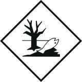 Naklejka ADR - Substancja niebezpieczna szkodliwa dla środowiska, ryba, drzewo - MB127 - Odpady niebezpieczne – przepisy dot. magazynowania