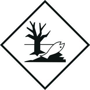 Naklejka ADR - Substancja niebezpieczna szkodliwa dla środowiska, ryba, drzewo - MB127
