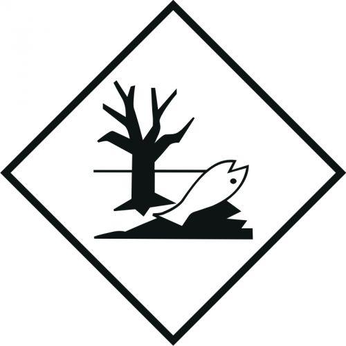 Naklejka ADR - Substancja niebezpieczna szkodliwa dla środowiska, ryba, drzewo - MB127 - Materiały zagrażające środowisku – oznakowanie ADR