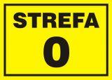 NB001 - 0 Strefa zagrożenia wybuchem - znak ostrzegający, informujący - Znaki antystatyczne, kopalnie