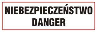 ND001 - Niebezpieczeństwo-Danger - znak ostrzegający, informujący
