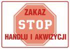 ND018 - Zakaz handlu i akwizycji - znak zakazujący