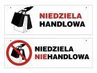ND019 - Niedziela handlowa / niehandlowa tabliczka dwustronna do powieszenia