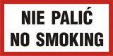 NE006 - Nie palić-No smoking - znak zakazujący - Palenie tytoniu – gdzie obowiązuje zakaz, a gdzie wolno palić?