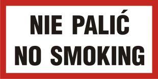 NE006 - Nie palić-No smoking - znak zakazujący