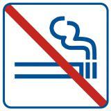 NE009 - Zakaz palenia 1 - znak zakazujący - Biurowiec – jakie oznaczenia są konieczne?