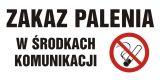 NE024 - Zakaz palenia w środkach komunikacji - znak zakazujący, informujący - Palenie tytoniu – gdzie obowiązuje zakaz, a gdzie wolno palić?