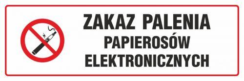 NE027 - Zakaz palenia papierosów elektronicznych - znak zakazujący, informujący - Jak e-papierosy wpływają na zdrowie?