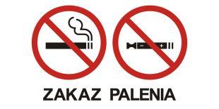 NE032 - Zakaz palenia tytoniu i papierosów elektronicznych 1 - znak zakazujący, informujący