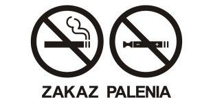 NE033 - Zakaz palenia tytoniu i papierosów elektronicznych 2 - znak zakazujący, informujący
