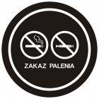NE035 - Zakaz palenia tytoniu i papierosów elektronicznych 4 - znak zakazujący, informujący