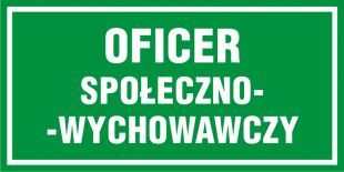 NF008 - Oficer społeczno-wychowawczy - znak, tablica wojskowa
