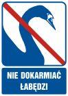 Nie dokarmiać łabędzi - znak informacyjny - RB513