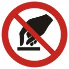 Nie dotykać - znak bhp zakazujący - GAP010