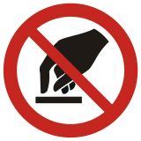 Nie dotykać - znak bhp zakazujący - GAP010 - Znaki BHP w miejscu pracy (norma PN-93/N-01256/03)
