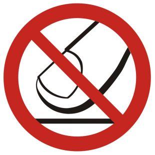 Nie dotykać - znak bhp zakazujący - GB010